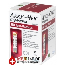 Тест-полоски Акку-Чек Перформа (Accu-Chek Performa) 50шт
