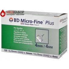 Иглы для шприц-ручек Микрофайн (Microfine) 4mm (100 шт)