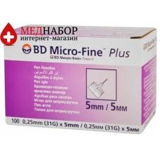 Иглы для шприц-ручек Микрофайн (Microfine) 5mm (100 шт)